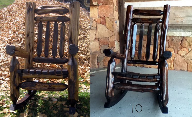 Rustic Mountain Cedar Rocking Chairs And Dining Chairs From Hill Contry Log Rocking  Chairs