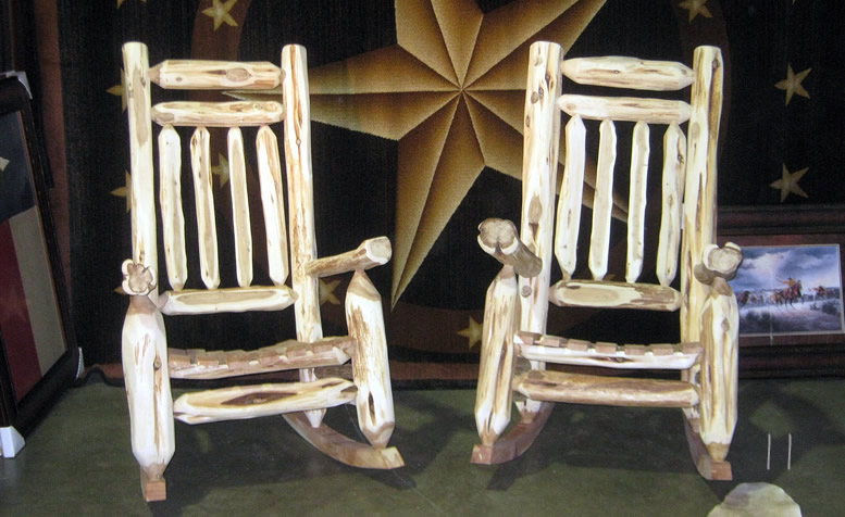 Rustic Mountain Cedar Rocking Chairs And Dining From Hill Contry Log