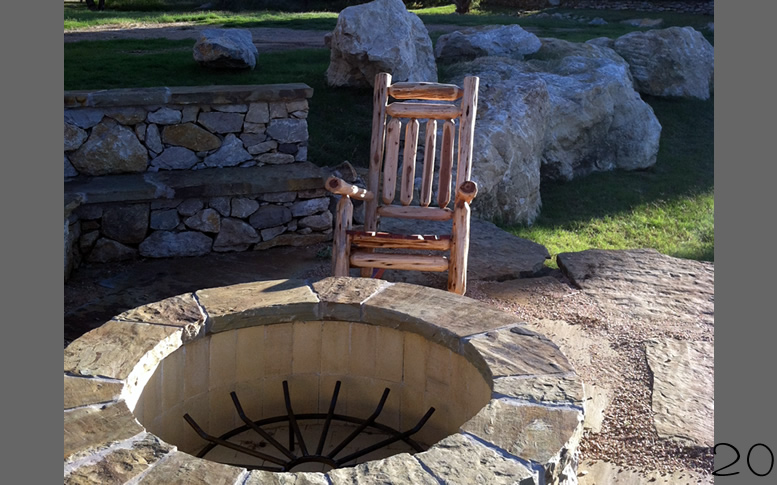 Rustic Mountain Cedar Rocking Chairs and Dining Chairs from ...