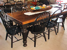 Specializing In Handcrafted Bowling Lanes Tables And Pine Tables - Black farmhouse table and chairs